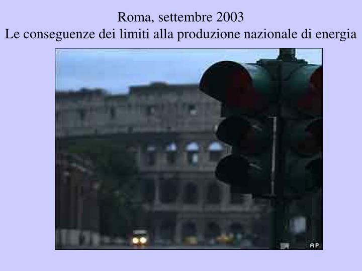 Roma, settembre 2003