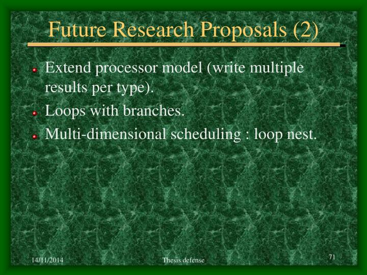Future Research Proposals (2)