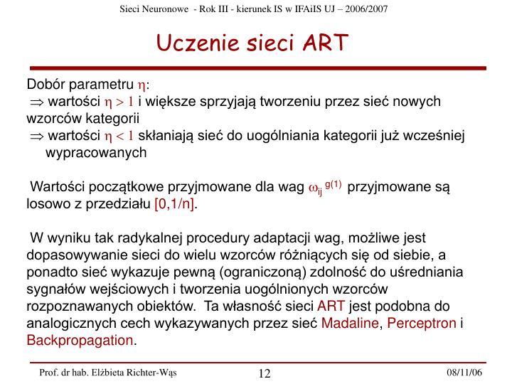 Uczenie sieci ART