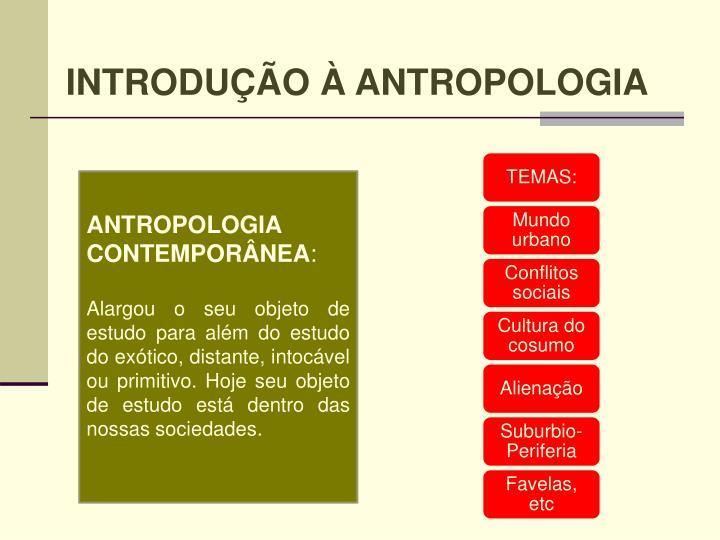 INTRODUÇÃO À ANTROPOLOGIA