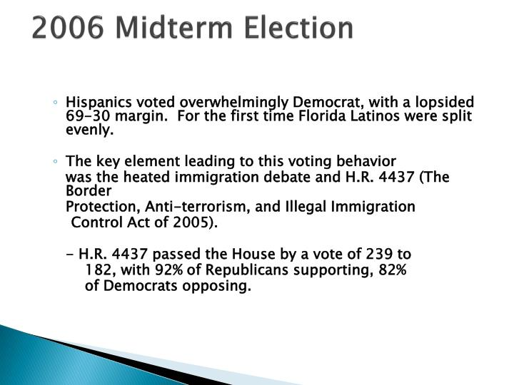 2006 Midterm Election