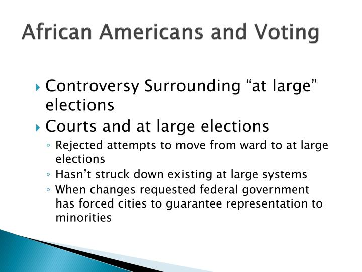 African Americans and Voting