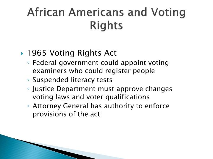 African Americans and Voting Rights