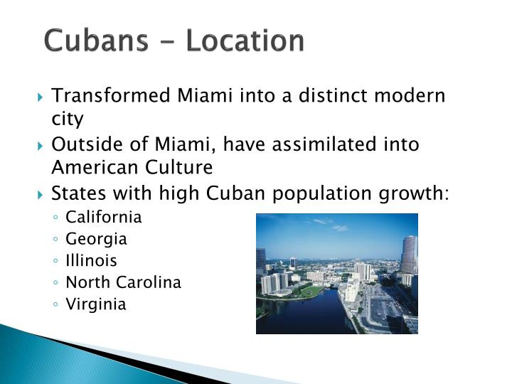 Cubans - Location