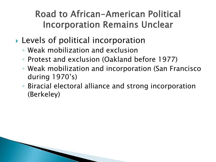 Road to African-American Political Incorporation Remains Unclear