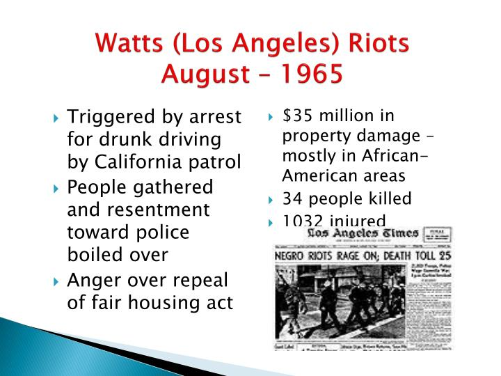 Watts (Los Angeles) Riots
