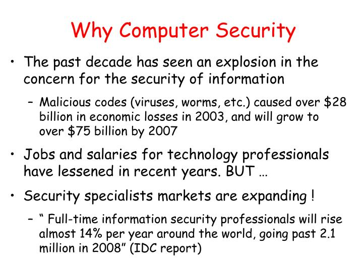 Why computer security