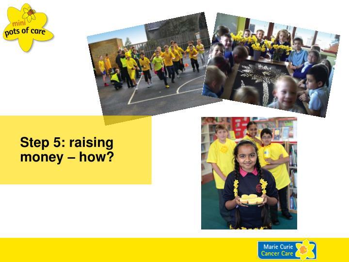 Step 5: raising money – how?