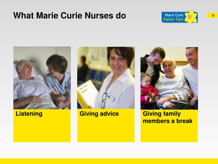 What Marie Curie Nurses do