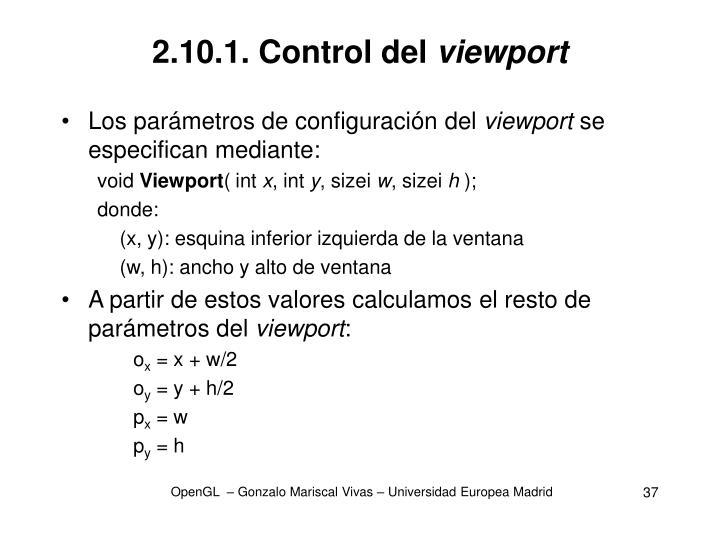 2.10.1. Control del