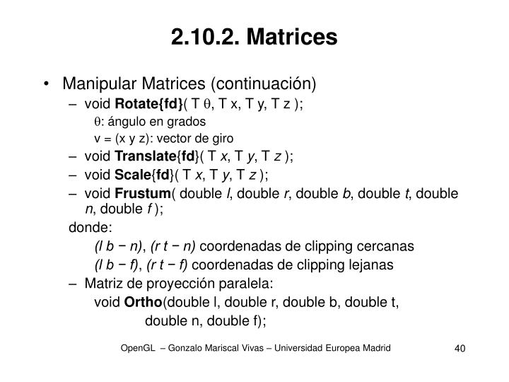 2.10.2. Matrices