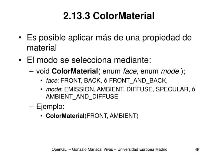 2.13.3 ColorMaterial