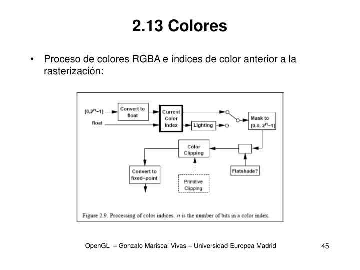 2.13 Colores