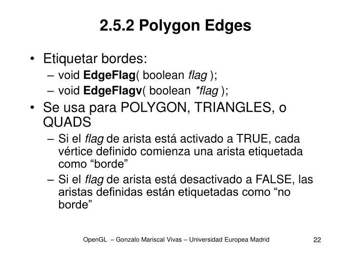 2.5.2 Polygon Edges