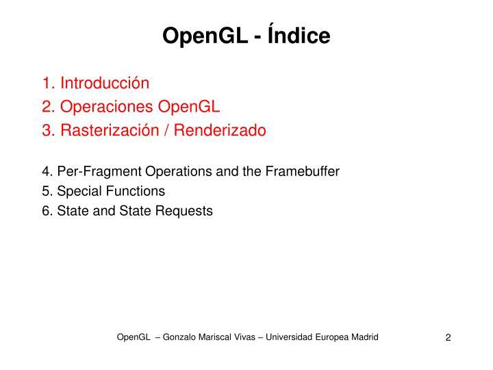 OpenGL - Índice