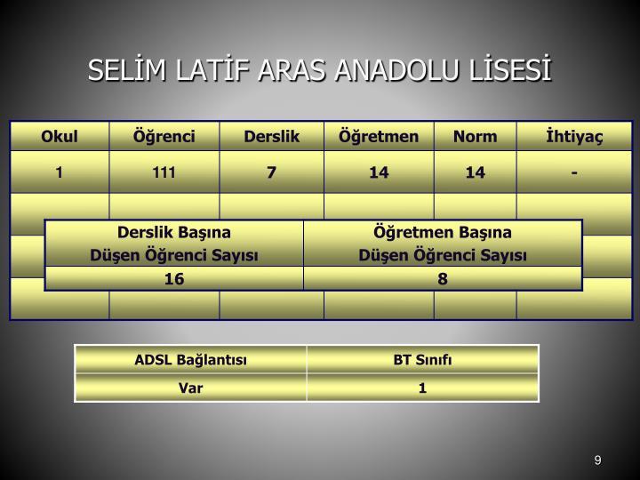 SELİM LATİF ARAS ANADOLU LİSESİ