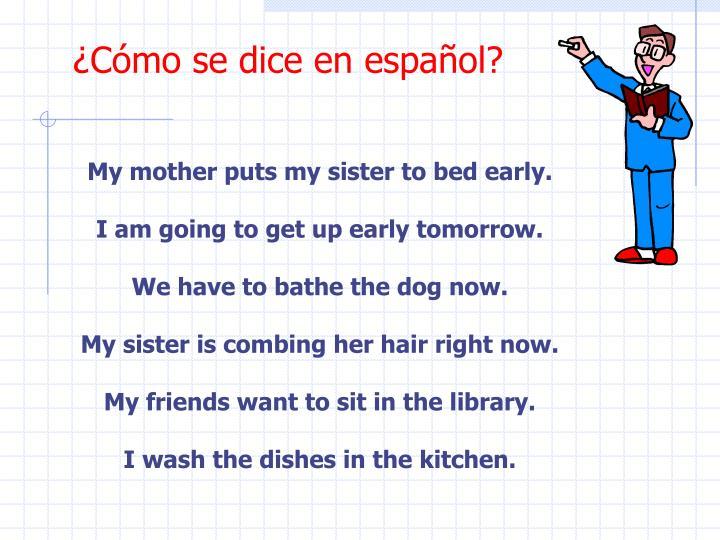 ¿Cómo se dice en español?