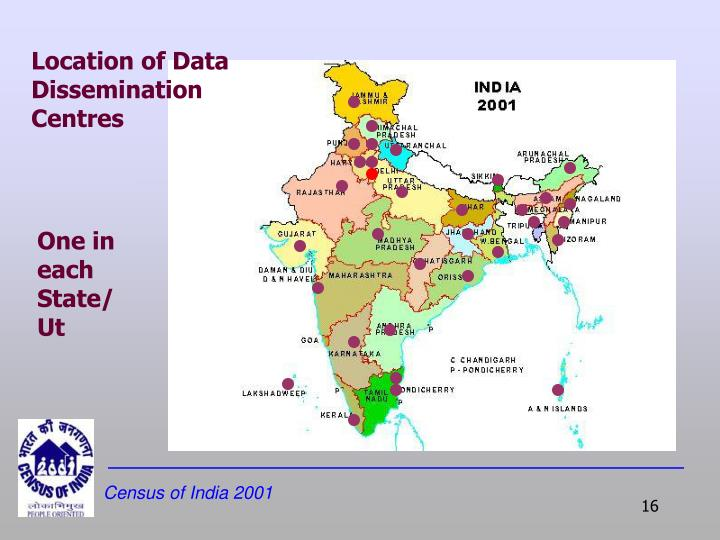 Location of Data Dissemination Centres