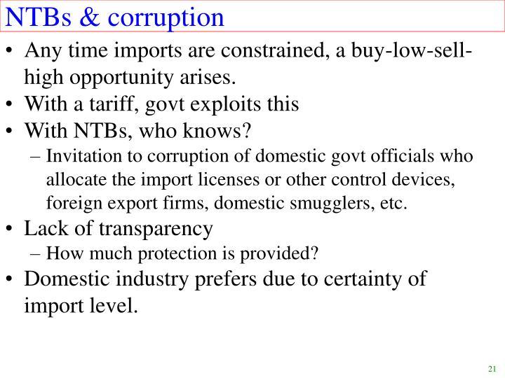 NTBs & corruption