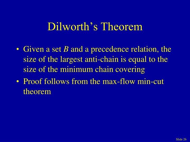Dilworth's Theorem