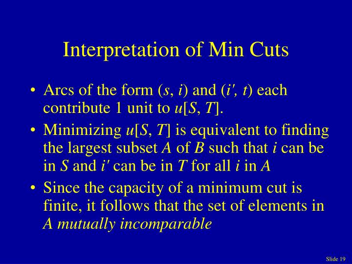 Interpretation of Min Cuts