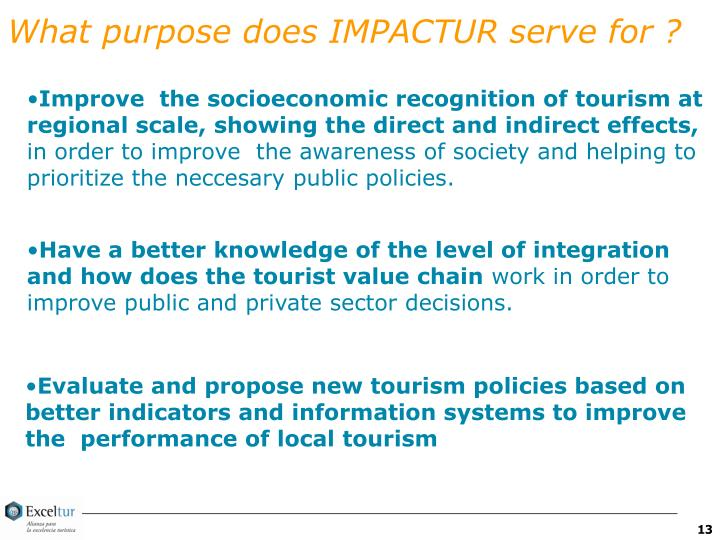 What purpose does IMPACTUR serve for ?