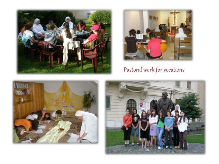 Pastoral work for vocation