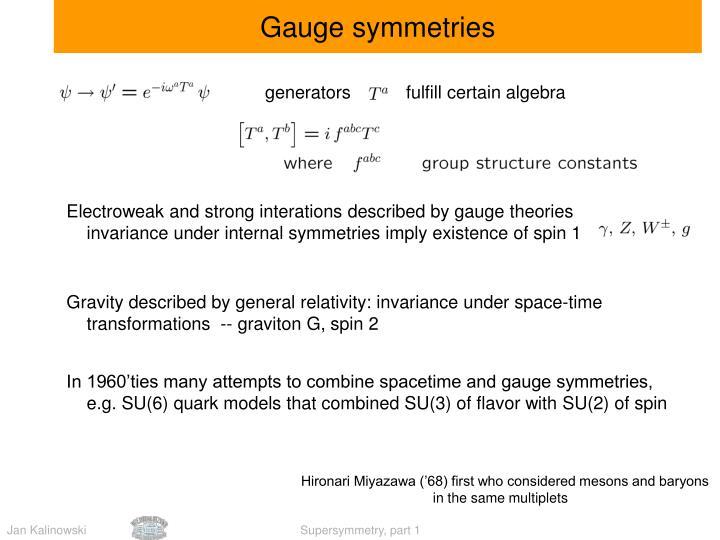 Gauge symmetries
