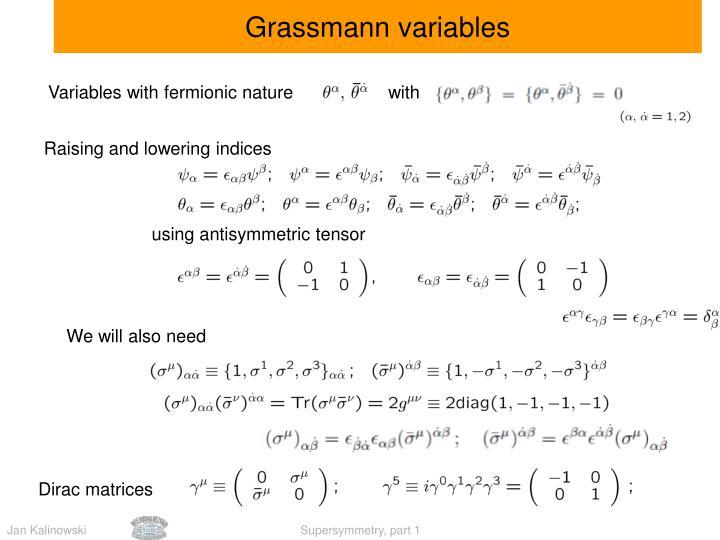 Grassmann variables