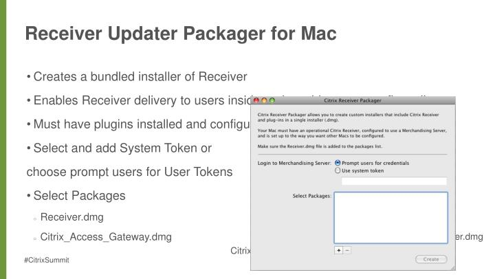 Receiver Updater Packager for Mac