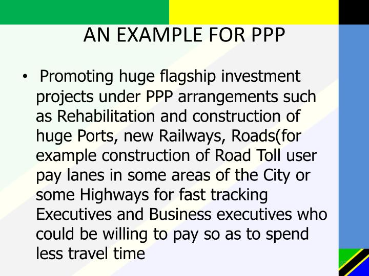 AN EXAMPLE FOR PPP