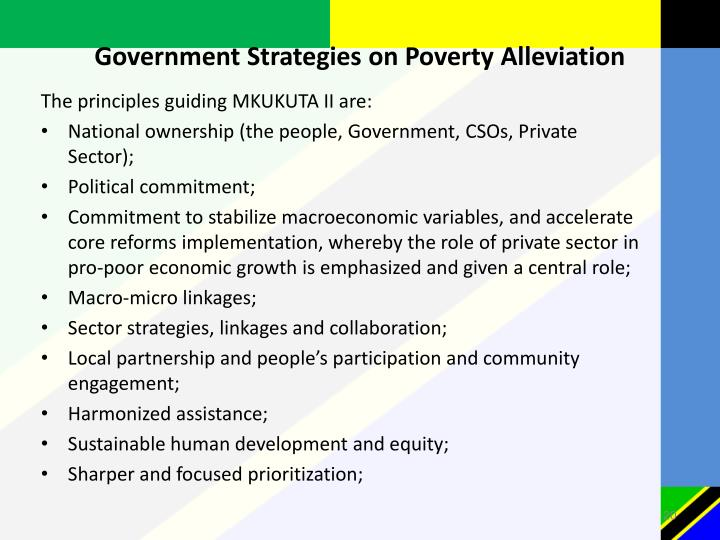 Government Strategies on Poverty Alleviation