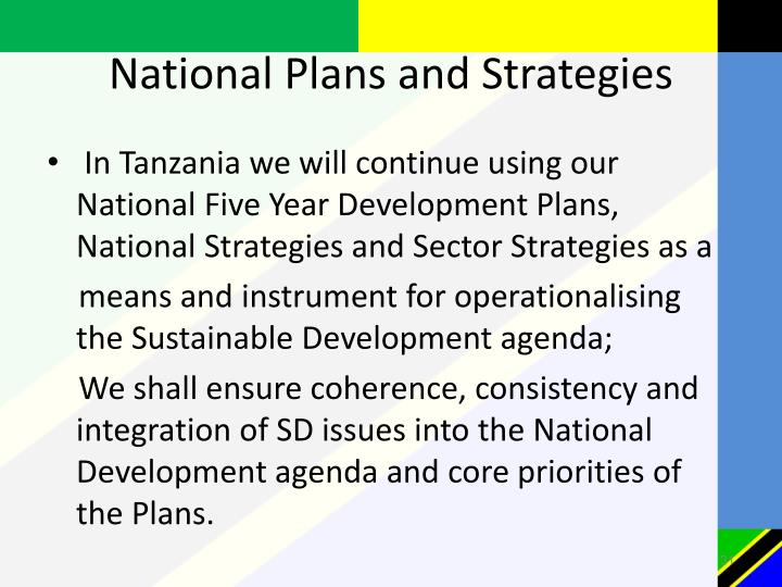 National Plans and Strategies