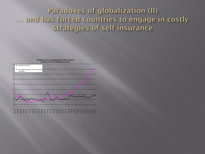 Paradoxes of globalization (II)