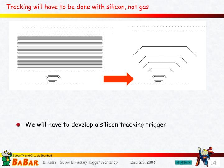 Tracking will have to be done with silicon, not gas