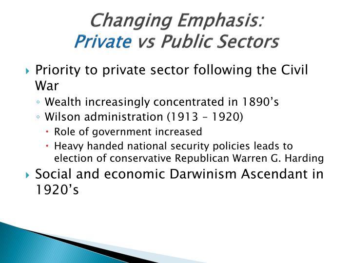 Changing Emphasis:
