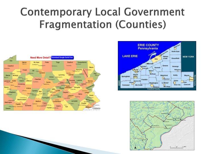 Contemporary Local Government Fragmentation