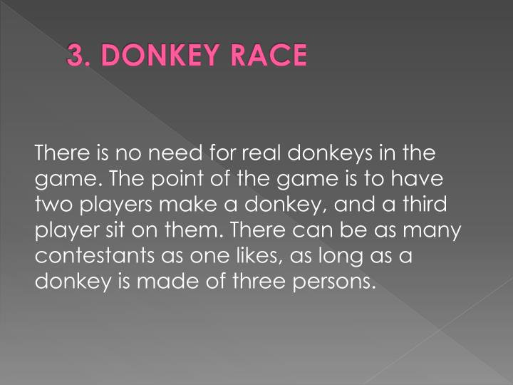 3.DONKEY RACE