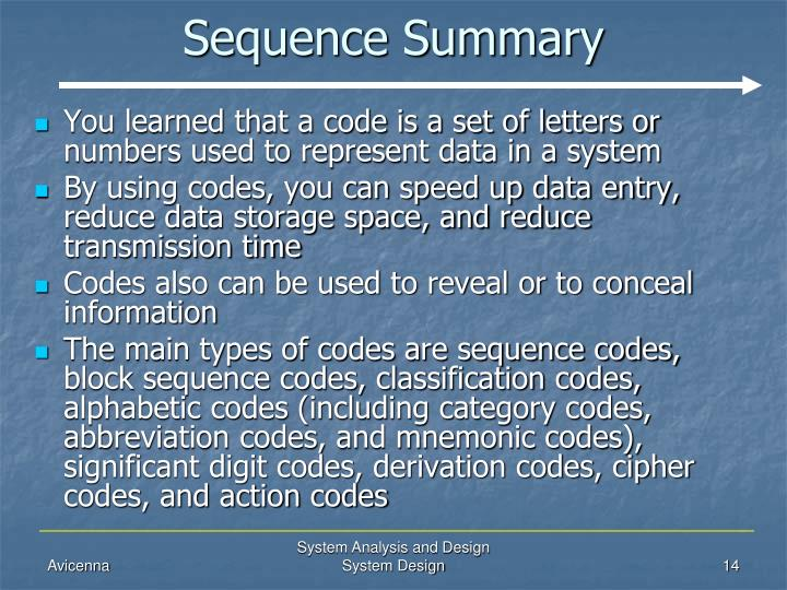 Sequence Summary