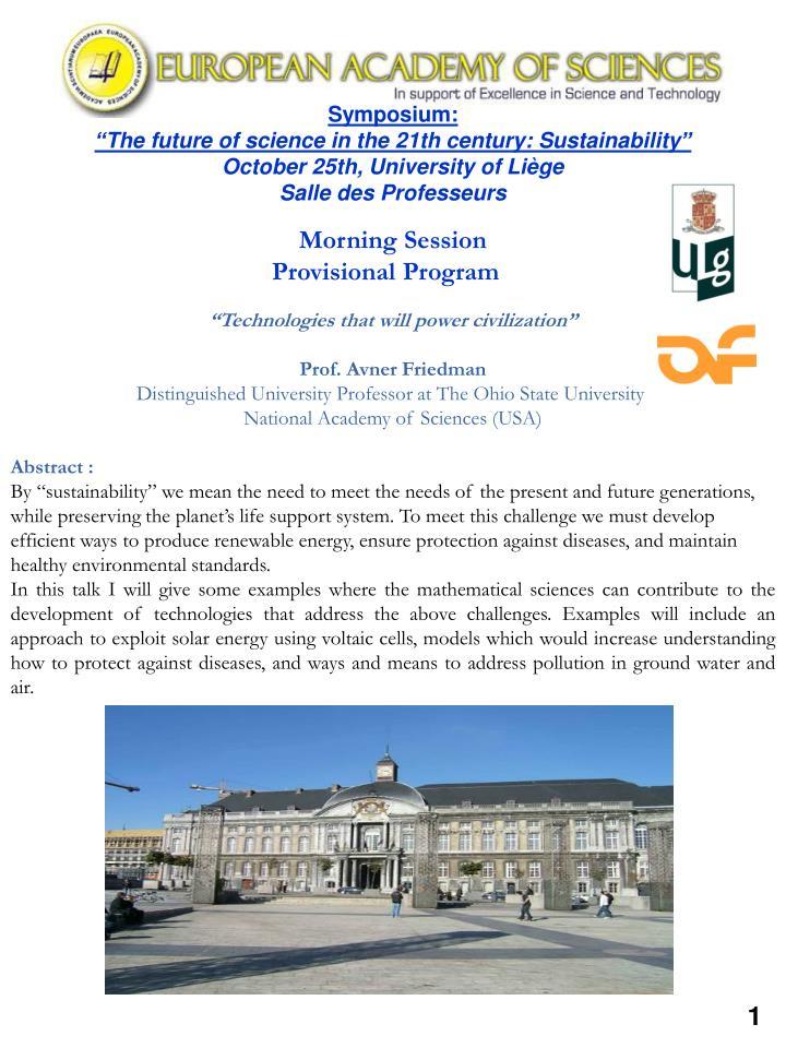 Symposium: