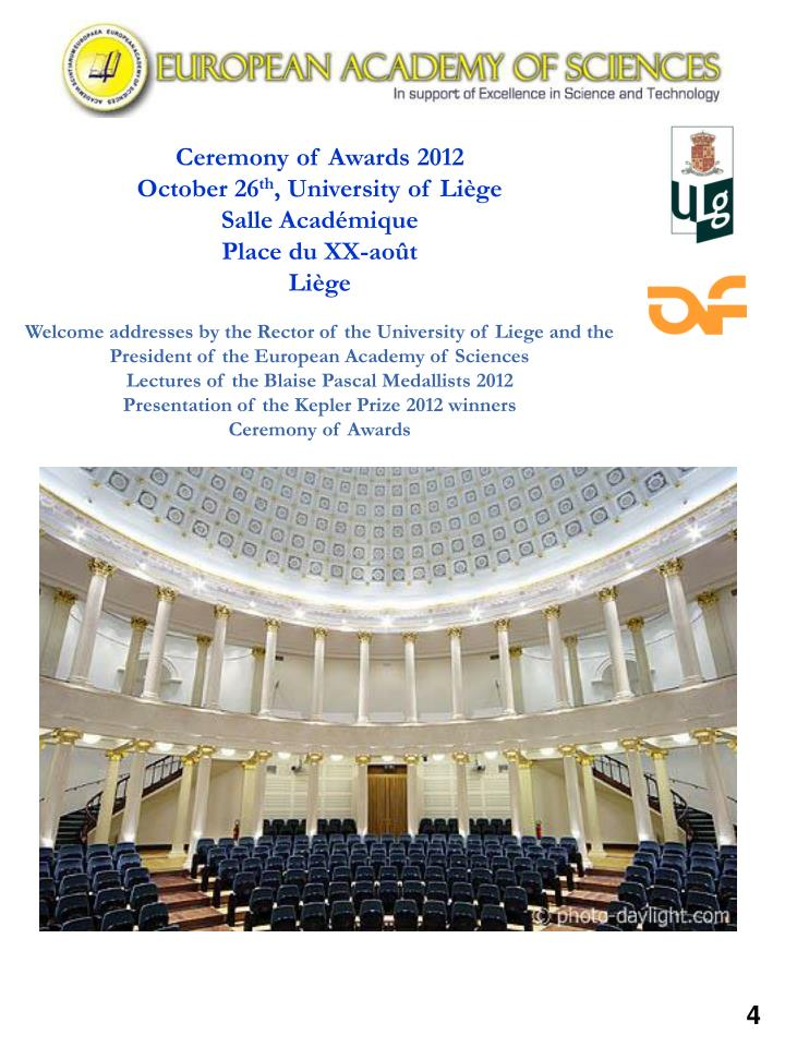 Ceremony of Awards 2012
