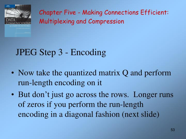 JPEG Step 3 - Encoding