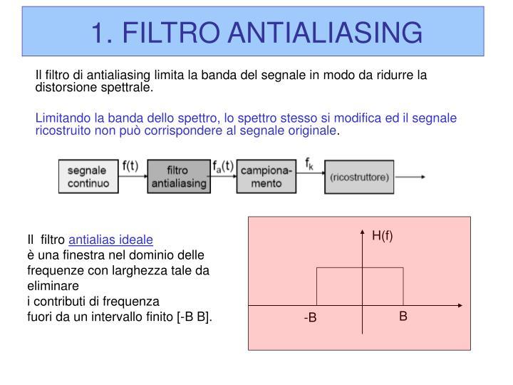 1. FILTRO ANTIALIASING