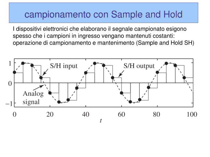 campionamento con Sample and Hold