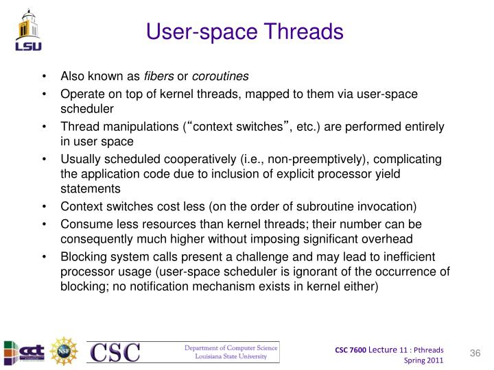 User-space Threads