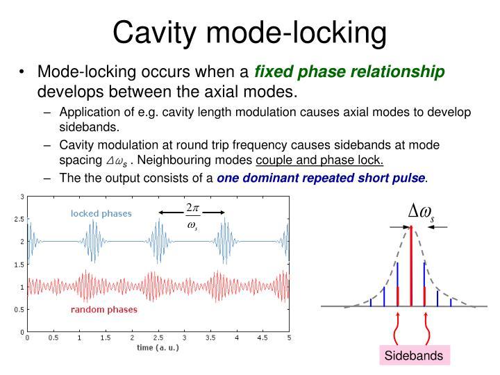 Cavity mode-locking