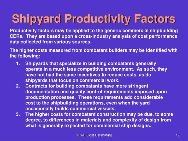 Shipyard Productivity Factors