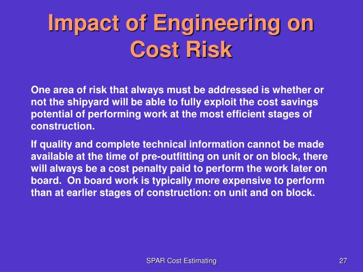 Impact of Engineering on