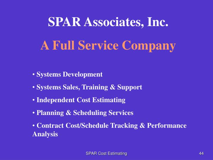 SPAR Associates, Inc.