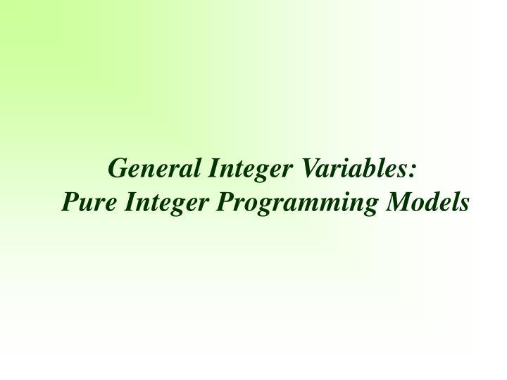 General Integer